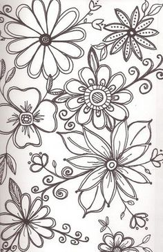 Flower Doodles Like Art Enables Us To Find Ourselves And Lose At The Same Time