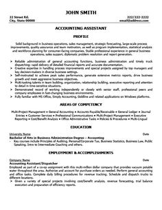 Accounting Resume Samples resume sample accounts college student academic Accounting Assistant Resume Template Premium Resume Samples Example
