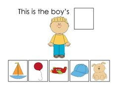 This activity is designed to help your students practice using possessive s in sentences. There are 16 different people and each person has pictures of 5 different objects that could belong to him/her. You can have your students complete the sentence at the top of each page, such as this is the babys _______.