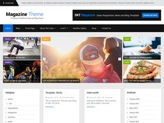 SKT Magazine - free WordPress portfolio themes