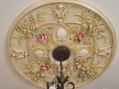 painted ceiling medallion-Julie Riker painting, murals, faux finishes