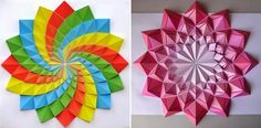Simplemente Creativo: colorido del mosaico de Origami por Kota Hiratsuka
