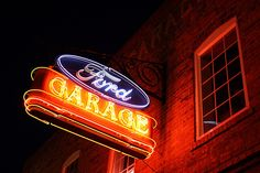 Classic Ford Garage Neon Sign by Micheal  Peterson, via Flickr