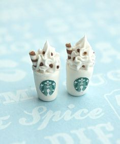 starbucks stud earrings   Jillicious charms and accessories