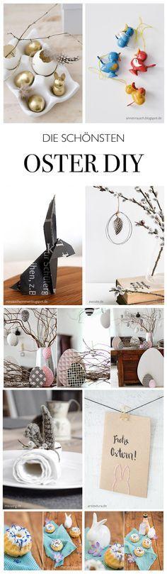 die schönsten Oster DIY - von meinen liebsten Do-it-yourself und lifestlye Blogs