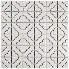 Merola Tile Palace White in. x 5 mm Porcelain Mosaic Tile-FXLPALW - The Home Depot Merola Tile Palace White in. x 5 mm Porcelain Mosaic Tile Ceramic Mosaic Tile, Mosaic Wall, Porcelain Tile, Mosaic Glass, White Porcelain, Wall Tiles, Powder Room Design, House Tiles, Stone Tiles
