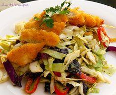 ASIAN CHICKEN SALAD http://chantelsrecpies.blogspot.com/search/label/Salad