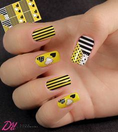 Lindas unhas decoradas com tons de amarelo Beige Nails, Rose Gold Nails, Sparkle Nails, Yellow Nails, Karma Nails, Nails Only, Hot Nails, Cool Nail Art, Nail Inspo
