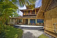 """The Surfers House, we are staying on the top two stories, called the """"Gerry Lopez Treetop loft"""" at the Chillhouse"""