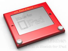 Etcher, an iPad case that turns it into an Etch-A-Sketch