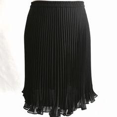 ADRIANNA PAPEL BLACK SKIRT Black, evening essentials, Worn once. Adrianna Papell Skirts