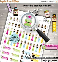 60%OFF - Medicine Stickers, Printable Planner Stickers, Prescription, Medication, Kawaii Stickers, Planner Accessories, Doctor