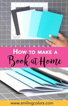 how to make a book, how to staple a booklet, bookbinding diy tutorials, easy book binding Diy Booklet, Diy Coloring Books, Colouring, Homemade Journal, Homemade Books, Diy Notebook, Handmade Notebook, Notebook Covers, Handmade Journals