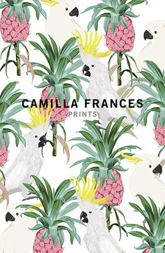 { estampa tropical } Camilla Frances prints