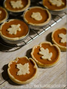 Mini pumpkin pies: Holiday Gifts: Food in Jars | Mason Jar Crafts Love