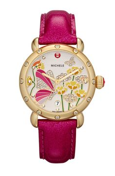 MICHELE Garden Party - Butterfly Customizable Watch | Nordstrom