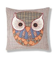 This stylish appliqué cushion is filled with recycled polyester stuffing. Using recycled materials helps to conserve the earth's natural resources and protect the environment for future generations. Grab this gorgeous Owl cushion from M for £25!