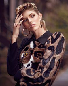 Harper's Bazaar Kazakhstan January 2018 Devon Windsor by Greg Swales