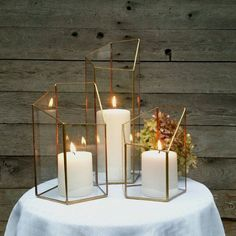 Candle Holder  This is a very classic wedding centerpiece. It works for many wedding decor styles.