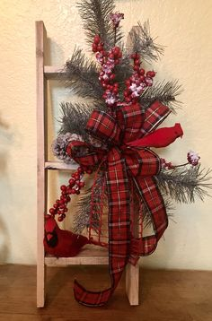 Excited to share this item from my shop: Christmas winter cardinal rustic farmhouse ladder, Christmas decoration ladder, cardinal decorations supportsmallbusiness Christmas Bedroom, Farmhouse Christmas Decor, Rustic Christmas, Winter Christmas, Christmas Home, Christmas Wreaths, Christmas Crafts, Christmas Ornaments, Christmas Lanterns