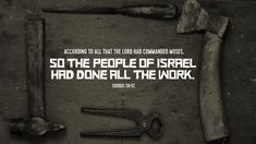 Verse of the Day from Logos.com May we all work well the grace of God to see His work completed to His glory.