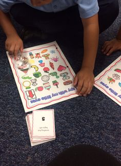 I spy games for letter names and sounds, beginning sounds and number identification to 20