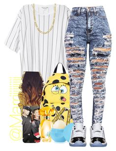 """""""7•16•14"""" by trill-forlife ❤ liked on Polyvore featuring Monki, Moschino, GUESS, Retrò and Fremada"""
