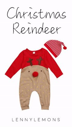 Super Fun! Up to 70% OFF & FREE US SHIPPING. Outfits Inspired by Rudolph the red nose reindeer. Playful and adorable Christmas outfits. Super comfy for your baby. Lenny Lemons.