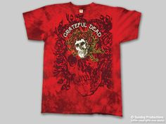 Grateful Dead Red Bertha Tie Dye Mens Tee Shirt