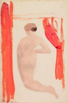 August Rodin aquarel