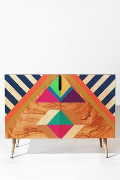Bianca Green Woody A Credenza | DENY Designs Home Accessories