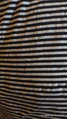 Jersey Streifen schwarz/natur | super Preis! | bei lavalisedeclementine bei DaWanda