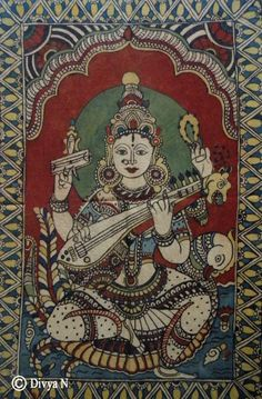 kalamkari - saraswati