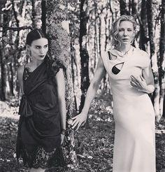 Cate & Rooney into the woods  #cateblanchett #rooneymara #lookatrooneylookingatcate #myedit #ifonlyitwastrue #caterooneylove