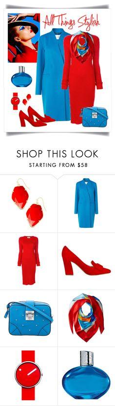 """Ports 1961 High Slits Dress Look"" by romaboots-1 ❤ liked on Polyvore featuring Kendra Scott, L.K.Bennett, Ports 1961, MCM, Lauren Ralph Lauren, Rosendahl and Elizabeth Arden"