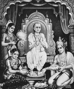Sudama (Kuchela) and Krishna