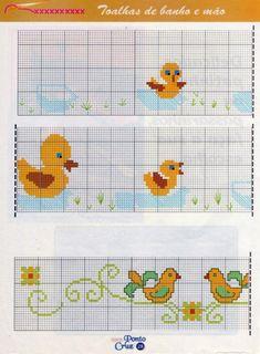 grafico-bebe-patinhos-toalha-de-banho-1120x680 Patinhos para ponto Cruz Bebê