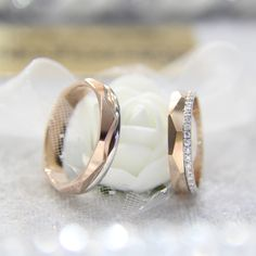 14 ayar ose altın ile hazırlanmış prizma model alyans Wedding Rings, Engagement Rings, Photo And Video, Model, Instagram, Jewelry, Enagement Rings, Jewlery, Schmuck