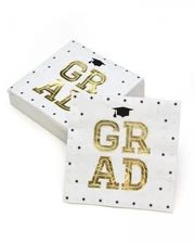 Looking for something for the new graduate? Check out this collection for everything you need to celebrate your special achiever! Grad Cap, Cocktail Napkins, Party Tableware, Graduation Gifts, Gold Foil, Cocktails, Cards, Icons, Touch