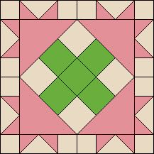 Block of the Day-Peony Crossing