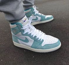 Shop Air Jordan 1 Retro High OG 'Turbo Green' - Air Jordan on GOAT. We guarantee authenticity on every sneaker purchase or your money back. Converse Sneaker, Sneaker Outfits, Air Jordan Sneakers, Nike Air Shoes, Green Nike Shoes, Sneakers Fashion, Fashion Shoes, Shoes Sneakers, Women's Shoes