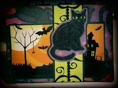 "Handmade Halloween ""All Hallows' Eve"" Black by AmrcnWldFlwrDesigns on Etsy, $4.50"