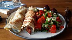 By Kim R Rainbow Chard Recipes, Tzatziki, Tacos, Salad, Ethnic Recipes, Food, Essen, Salads, Meals