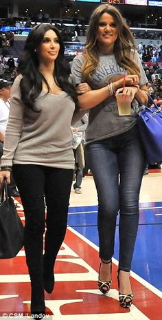 Kim and Khloe Kardashian.