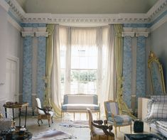 Pauline de Rothschild's Curtains | Architectural Digest