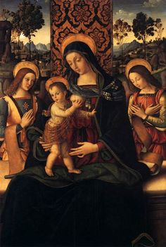 Pinturicchio, The Virgin and Child with Two Angels, c. 1475-80