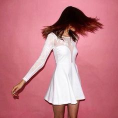 White hot skater dress, made for parties