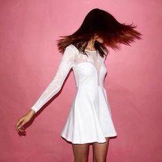 White hot skater dress, made for parties #Motel #MotelxCovetMe #covetme