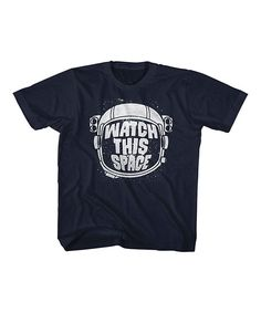 Navy 'Watch This Space' Astronaut Tee - Toddler & Girls