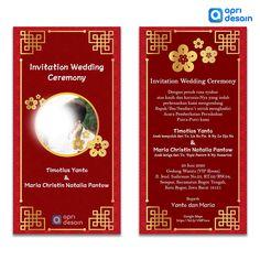 Desain Undangan Digital Chinesse by. ApriDesain.id E Invitation Wedding, E Invite, Digital